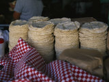 Tortillas Sold at an Outdoor Stand Photographic Print by Gina Martin