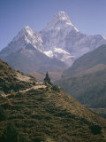 Ama Dablam and its Minor Peak Photographic Print by Michael Klesius