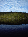 Shoreline and Clouds Reflected in the Still Waters of Rainbow Lake Photographic Print by Sam Abell