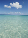 Aquamarine Water Bleeds into Blue Skies in This Tropical View Photographic Print by Michael Melford