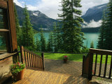 A View of Emerald Lake Seen from the Emerald Lake Lodge Entrance Stampa fotografica di Melford, Michael