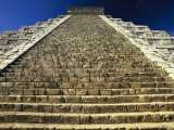 One of the Four Stairways of El Castillo Pyramid at Chichen Itza Photographic Print by Michael Melford