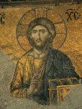 A Mosaic of Jesus at St. Sophia Hagia in Istanbul Stampa fotografica di Tim Laman