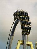 Egypt-Montu Rollercoaster at Busch Gardens Fotografisk tryk af Richard Nowitz