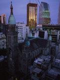 Buenos Aires Skyline at Dusk Fotografie-Druck von Pablo Corral Vega
