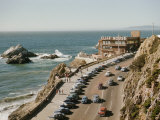 World Famous Cliff House Restaurant as Seen from Sutro Heights Photographic Print by Joseph Baylor Roberts