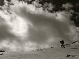 Backcountry Skiing on Hesperus Peak, San Juan Mountains, Colorado Fotografisk trykk av Bill Hatcher
