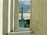 A View of the Washington Monument and the Capitol as Seen from the Lincoln Memorial Photographic Print by Sisse Brimberg