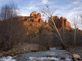 Scenic View of Red Rock Crossing near Sedona Fotografisk tryk af Charles Kogod