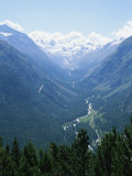 Glider Enjoys Rising Currents over the Morteratsch Valley Photographic Print by Taylor S. Kennedy