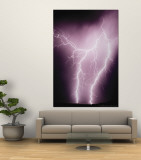 Lightening Wall Mural by Susan Strom