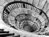 Elliptical Staircase in the Supreme Court Building Photographic Print by Margaret Bourke-White