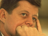 President Kennedy in Pensive Portrait Photographic Print by Paul Schutzer