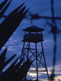 Lookout Tower Outside a Fortified Village During Vietnam War Reproduction photographique par Larry Burrows