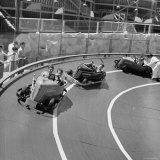 Midget Racing Cars at New York World's Fair Photographic Print by David Scherman