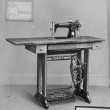 Pedal Foot Singer Sewing Machine Fotografie-Druck