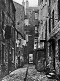 High Street Slum Buildings in Glasgow Lámina fotográfica