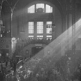 Salvation Army Meeting Held at Union Station Photographic Print by Wallace Kirkland