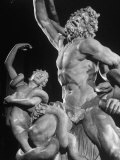 Detail of Laocoon Statue on Display in Museum Photographic Print by Bernard Hoffman