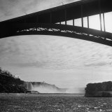 Niagara Falls Viewed from a Point under the Rainbow Bridge Photographic Print by Joe Scherschel