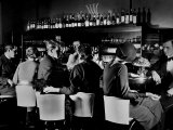 Celebrity Patrons Enjoying Drinks at This Speakeasy Without Fear of Police Prohibition Raids Reproduction photographique Premium par Margaret Bourke-White