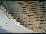 90 Meter Ski Jump During the 1972 Olympics Valokuvavedos tekijänä John Dominis