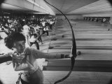 Fresno's Sunnyside Bowl Bowling Alley Lámina fotográfica por J. R. Eyerman