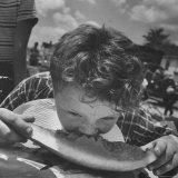 Watermelon Eating Contest Photographic Print by Joe Scherschel
