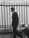 Democratic Candidate For New York Senator, Robert F. Kennedy with Dogs at Gracie Mansion Photographic Print by John Loengard