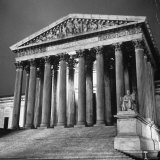 Exterior of the Supreme Court Building Photographic Print by Paul Schutzer