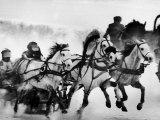 Troika Race at Hippodrome Reproduction photographique par Stan Wayman