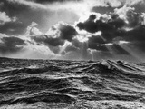 North Atlantic Wave Whipped High in a Midwinter Squall Fotografie-Druck von William Vandivert