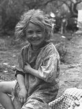 Small Dirty Child Living in the Migratory Camp Photographic Print by Carl Mydans