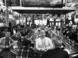 Subway Series: Rapt Audience in Bar Watching World Series Game from New York on TV Photographic Print by Francis Miller