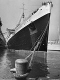 View of the Queen Mary Docked in New York City After It's Arrival Photographic Print by Carl Mydans