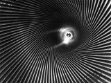 Wide Angle of the Barrel of a 16 Inch Gun Reproduction photographique par Andreas Feininger