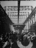 View of the Launching of the U.S. Navy Aircraft Carrier Ticonderoga Photographic Print by Thomas D. Mcavoy