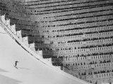 View of the 90 Meter Ski Jump During the 1972 Olympics Valokuvavedos tekijänä John Dominis