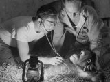 Orangutan Being Treated by Circus Veterinarian Photographic Print by Francis Miller