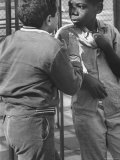 Michael Ketosugbo with a School Mate After a Fist Fight Fotografisk tryk af Al Fenn