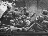 US Trainees at Fort Polk, Undergoing Vietnam Oriented Training, Where They Are About to Be Ambushed Photographic Print by Lynn Pelham