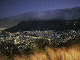 An Elevated View of Cape Town and Table Mountain at Twilight Photographic Print by Tino Soriano