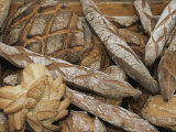 French Breads at a Bazaar in Provence Fotografisk tryk af Nicole Duplaix