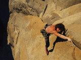 A Man Rock Climbing on El Capitan, Yosemite, California Photographic Print by Jimmy Chin