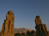 A View of the Crumbling Colossi of Memnon Photographic Print by Kenneth Garrett