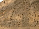 A View of Hieroglyphics on the Wall of Karnak Temple Photographic Print by Kenneth Garrett