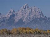 The Grand Teton Mountain, Grand Teton National Park, Wyoming Fotografisk tryk af Raymond Gehman