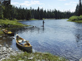 Fishing by a River Reproduction photographique par Bill Curtsinger
