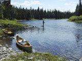 Fishing by a River Impressão fotográfica por Bill Curtsinger