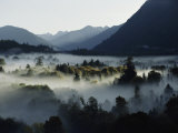 A Heavy Fog Fills a Valley in the Olympic Mountains Fotografisk tryk af Sam Abell